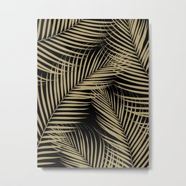Palm Leaves - Gold Cali Vibes #2 #tropical #decor #art #society6 Metal Print