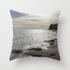 Seascape with stones Throw Pillow