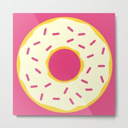 Cream Donut Metal Print