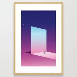 The Mirror reflecting another sky Framed Art Print