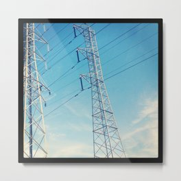 Structures In The Sky Metal Print