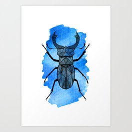 Blå Ekoxe Art Print