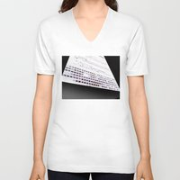 building V-neck T-shirts featuring Building by ONEDAY+GRAPHIC
