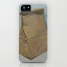 Schrödinger's bubble gum (brown paper bag) iPhone Case