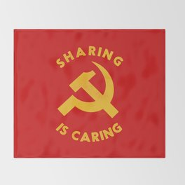 Sharing Is Caring Throw Blanket