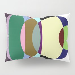 Pastel Meditation - Pastel coloured, relaxing, calming, abstract, elliptical interactions Pillow Sham