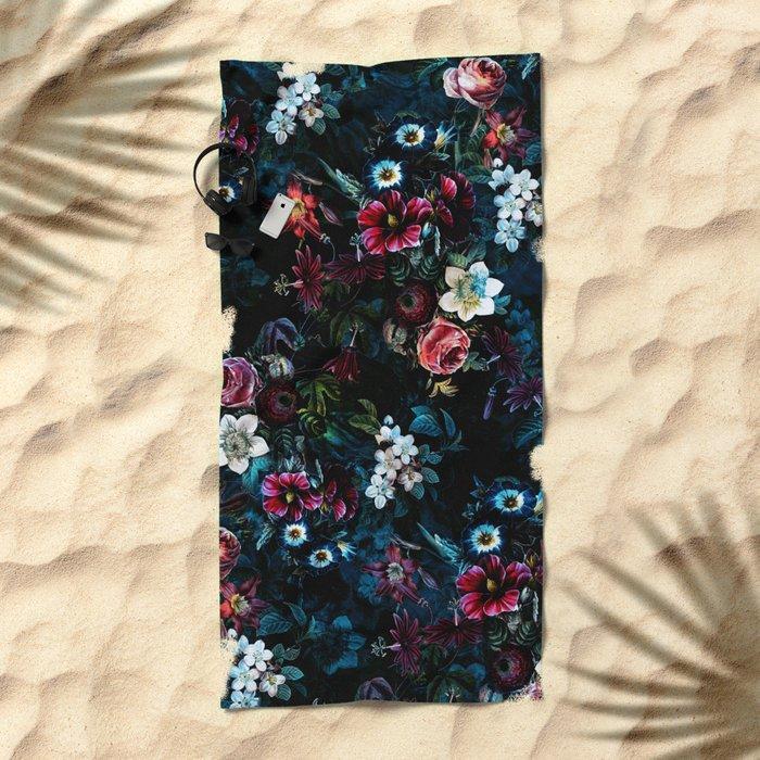 NIGHT GARDEN XI Beach Towel