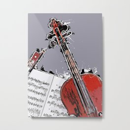 Violin music art #violin #music Metal Print