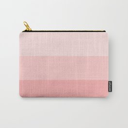Pastel Paradise Pink Stripe Carry-All Pouch