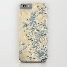 Vintage Duotone Indigo Blue and Cream Spring Dogwood Branches Slim Case iPhone 6s