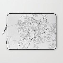Minimal City Maps - Map Of Aalborg, Denmark. Laptop Sleeve