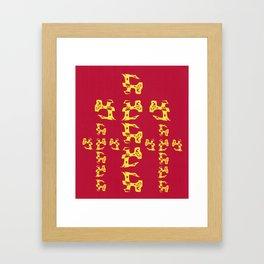 "Charred ""Golgotha"" Framed Art Print"