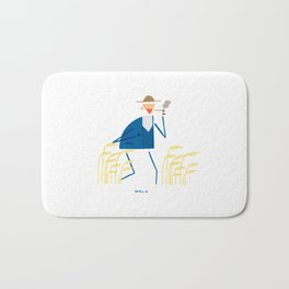 A walk with Van Gogh Bath Mat