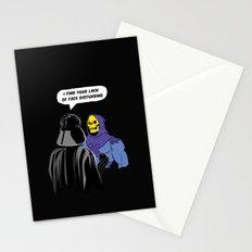 Vader Skeletor I Find your lack of face disturbing  Stationery Cards