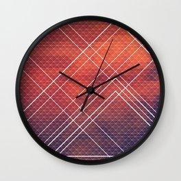 Geometric Volcano Wall Clock