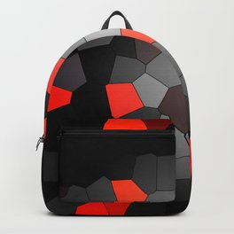 red and black mosaic Backpack