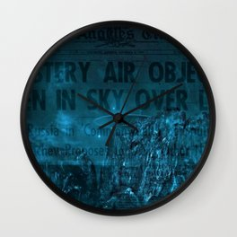Mystery Air Objects Seen In The Sky Over LA Contemporary Art Portrait Wall Clock