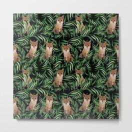 Woodland Fox Metal Print