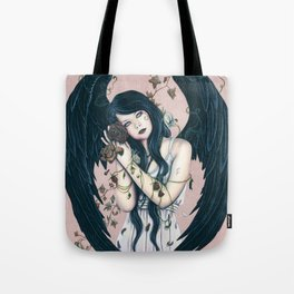 Wither Gothic Angel Of Decay Tote Bag