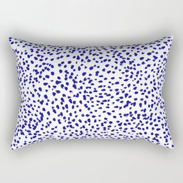 Vonnie - abstract minimal indigo blue dalmatian dots brushstrokes animal print monochromatic print Rectangular Pillow