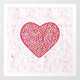 Round Heart Art Print