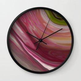 Linnea Flower Abstract Wall Clock