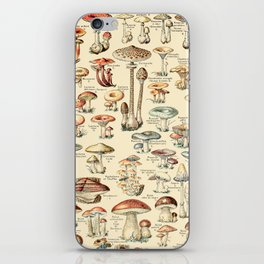 Trippy Vintage Mushroom Chart // Champignons by Adolphe Millot XL 19th Century Science Artwork iPhone Skin