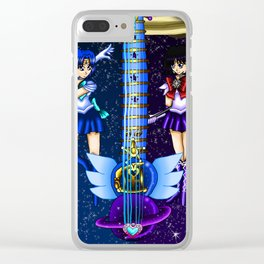 Fusion Sailor Moon Guitar #14 - Sailor Mercury & Sailor Saturn Clear iPhone Case
