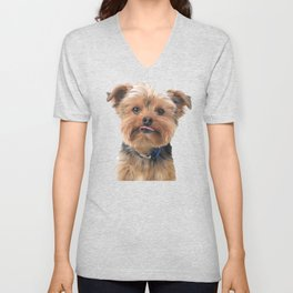 Yorkie Sticking Tongue Out | Dogs | Nadia Bonello Unisex V-Neck