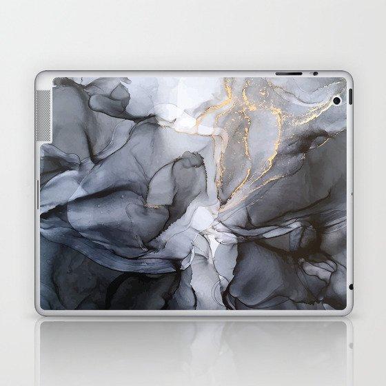 Calm but Dramatic Light Monochromatic Black & Grey Abstract Laptop & iPad Skin