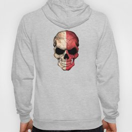 Dark Skull with Flag of Malta Hoody