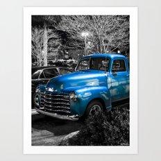 Classic Blue 1953 Chevy Pickup Truck Art Print