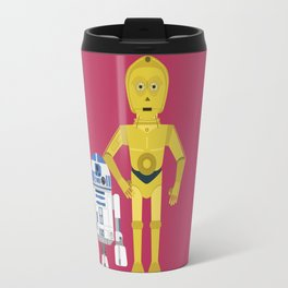C3P0 and R2D2 vector Travel Mug
