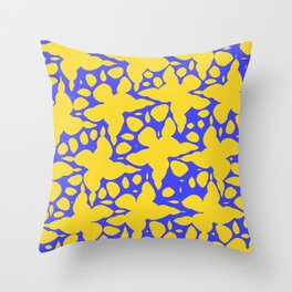 Asymmetry collection: abstract flowers in the water Throw Pillow