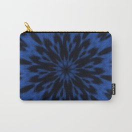 Spotted Leopard Blue Kaleidoscope Carry-All Pouch