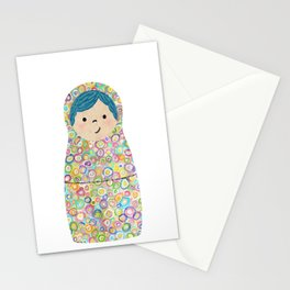 Rainbow Matryoshka Nesting Dolls Stationery Cards