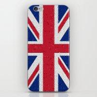 british flag iPhone & iPod Skins featuring British flag mosaic by Zora Zora