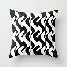 OpArt Waves Throw Pillow