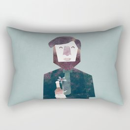 First date illustration Rectangular Pillow