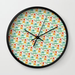 Wild animals 3 Wall Clock