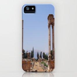 Ruins - Pillars & Mountains  iPhone Case
