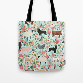 Farm gifts chickens cattle pigs cows sheep pony horses farmer homesteader Tote Bag
