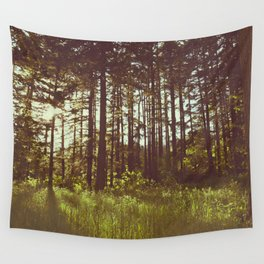 Summer Forest Sunlight - Nature Photography Wall Tapestry