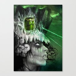 wasted mind, wasted earth Canvas Print