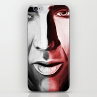 nicolas cage iPhone & iPod Skins featuring Nicolas by ArtChickStudio