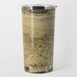 Map of Bakersfield 1901 Travel Mug