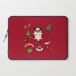Christmas Pug Doll Laptop Sleeve