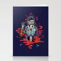 spock Stationery Cards featuring Dead Spock by Sam Jones Illustration