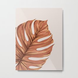 Abstract Monstera Metal Print