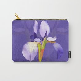 Purple Iris With Fading Iris and Purple Background Carry-All Pouch